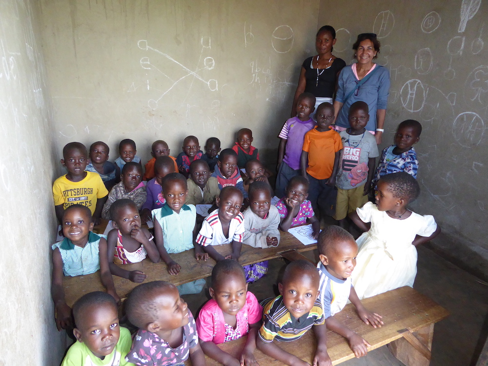 Voluntary at Boomu primary school Murchison Falls